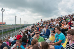 DTM (Deutsche Tourenwagen Meisterschaft) op MRW (het Toevoerkanaal van Moskou), Moskou, Rusland, 2013-08-04 Royalty-vrije Stock Foto's
