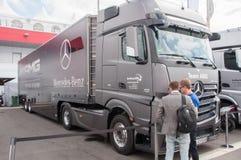DTM (Deutsche Tourenwagen Meisterschaft) op MRW (het Toevoerkanaal van Moskou), Moskou, Rusland, 2013-08-04 Royalty-vrije Stock Afbeeldingen