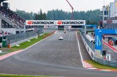 DTM (Deutsche Tourenwagen Meisterschaft) su MRW (canalizzazione) di Mosca, Mosca, Russia, 2013-08-04 Fotografie Stock