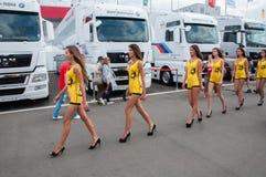 DTM (Deutsche Tourenwagen Meisterschaft) sur MRW (caniveau de Moscou), Moscou, Russie, 2013-08-04 Photos stock