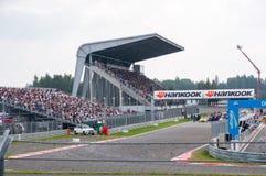 DTM (Deutsche Tourenwagen Meisterschaft) sur MRW (caniveau de Moscou), Moscou, Russie, 2013-08-04 Images stock