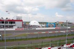 DTM (Deutsche Tourenwagen Meisterschaft) sur MRW (caniveau de Moscou), Moscou, Russie, 2013-08-04 Photo libre de droits
