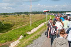 DTM (Deutsche Tourenwagen Meisterschaft) sur MRW (caniveau de Moscou), Moscou, Russie, 2013 08 04 Image libre de droits
