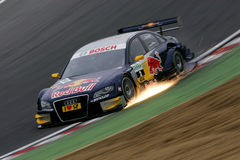 DTM race. In ENGLAND,Circuit BRANDS-HATCH,August 29th 2008,Martin Tomczyk(GER), Audi Sport Team Abt Sportsline,Red Bull Audi A4 DTM 08 royalty free stock image