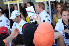 DTM Race - autograph signings Royalty Free Stock Images