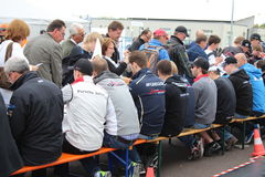 DTM Race - autograph signings Royalty Free Stock Photo