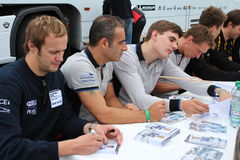 DTM Race - autograph signings Royalty Free Stock Photography