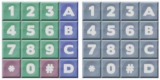 DTMF-toetsenbord Stock Afbeeldingen