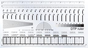 DTP Measure ruler Royalty Free Stock Image