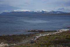 Détroit de Magellan dans le Patagonia, Chili Photos libres de droits