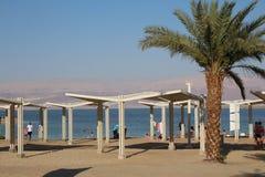 Dött hav i Israel - Ein Bokek Arkivfoton