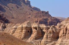 Dött hav Israel för Qumran grottor Royaltyfri Fotografi