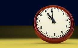 Duża zegarowa ostatecznego terminu pośpiechu czasu jedenaście godziny 3D ilustracja royalty ilustracja