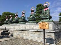 Duże sześć Bodhisattvas statui Zenko-ji świątynia w Nagano, Japonia zdjęcia royalty free