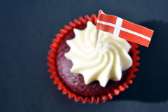 Duńska święto państwowe babeczka zdjęcia royalty free