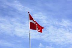 duńska flagę Obrazy Stock