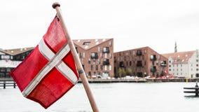 duńska flagę Zdjęcia Stock
