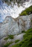 Duńska linia brzegowa z atrakcją turystyczną białe falezy Obraz Stock