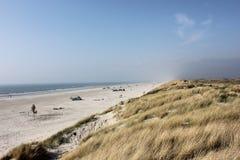 Duńska plaża Zdjęcia Stock