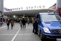 DUŃSKA policja T NORREPORT TRAINSTATION Obraz Stock