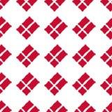 Duński chorągwiany bezszwowy wzór Zdjęcia Stock