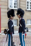 Duński Królewski strażnik w Kopenhaga Zdjęcie Stock