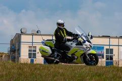 Duński motocyklu funkcjonariusz policji zdjęcia stock