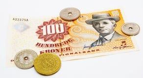 duński pieniądze Obrazy Stock