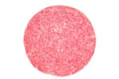 Duński salami plasterek zdjęcie stock