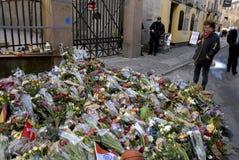 DUŃSKIE policj teraźniejszość PRZY żyd synagoga Zdjęcie Stock