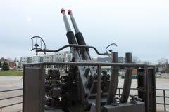Duża Armatnia militarna anta samolot marynarki wojennej wojna obrazy stock