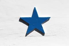 Duża błękitna gwiazda Obrazy Stock