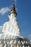 Duża biała Buddha statua Zdjęcia Stock