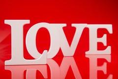 Duża biel listów miłość Zdjęcia Royalty Free