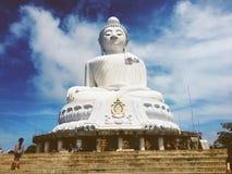 Duża Buddha świątynia obrazy royalty free