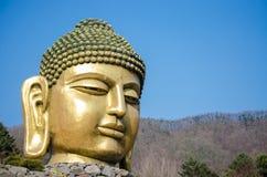 Duża Buddha głowa w Waujeongsa świątyni obraz royalty free