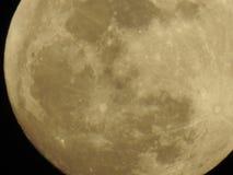 Duża chyłu parka narodowego Księżycowego zaćmienia księżyc w pełni powierzchnia Zdjęcie Royalty Free