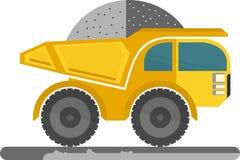 duża ciężarówka żółty obcy kreskówki kota ucieczek ilustraci dachu wektor Zdjęcie Stock