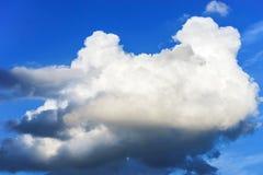 Duża cumulus chmura w niebieskim niebie Obraz Stock