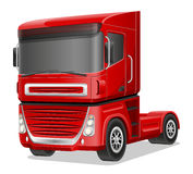 Duża czerwieni ciężarówki wektoru ilustracja Obrazy Stock