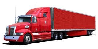 duża czerwona ciężarówka zdjęcia stock