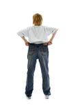 duża dziewczynka dżinsy wielkości slim zdjęcie stock