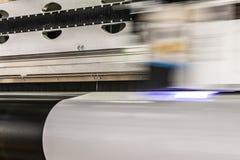 Duża fachowa drukarka, przetwarza masywne winylowe rolki obrazy royalty free