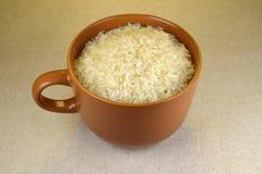 Duża filiżanka ryż fotografia stock
