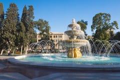 Duża fontanna w Sahil parku Zdjęcie Royalty Free