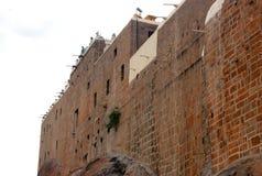 Duża kamienna ściana malaikottai manicka vinayagar świątynia zdjęcie royalty free