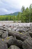 Duża kamienna rzeka Taganay Południowy Urals-1 Zdjęcie Stock
