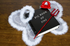 Duża książka grzechy Zdjęcia Stock