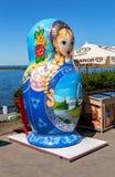 Duża matryoshka lala także znać jako Rosyjska gniazdować lala Zdjęcie Stock