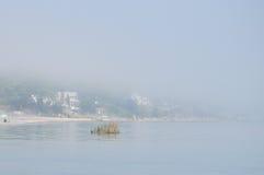 Duża mgła na Jeziornym Ontario, brać w Rochester Fotografia Stock